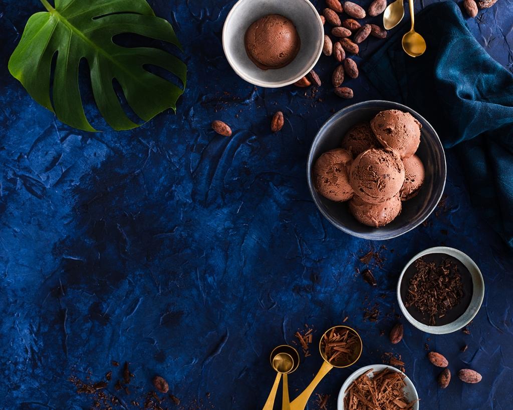 ice cream, chocolate, food photography, dessert