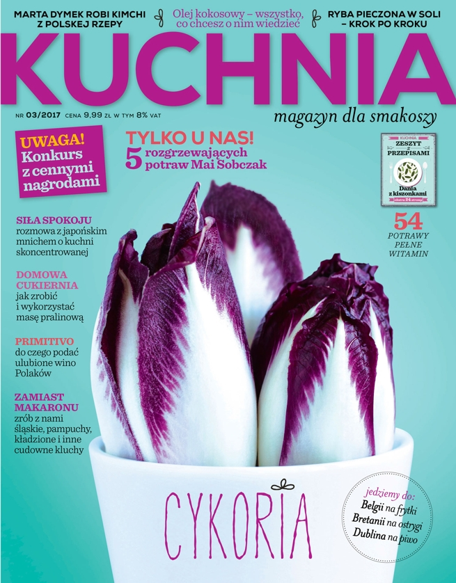 chicory, cover, magazine cover, food photography, photography